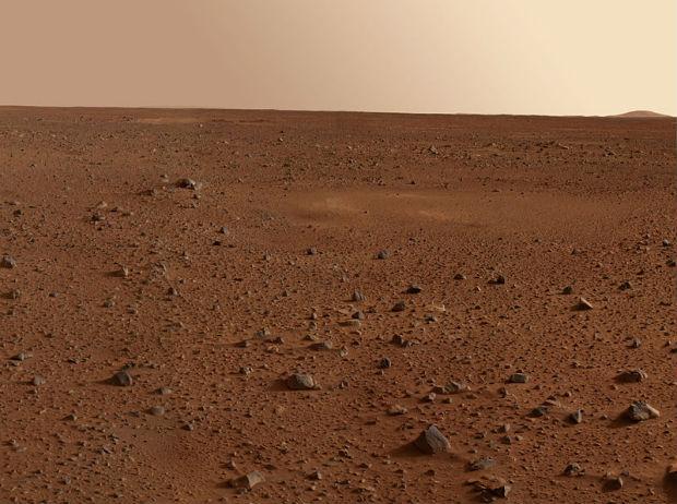 martian agriculture: Desolate landscape on Mars