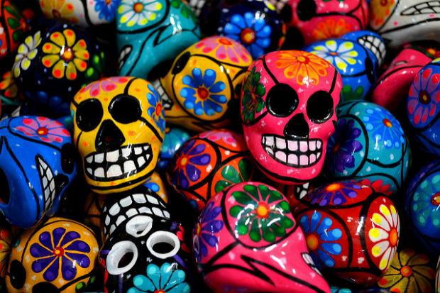 Photo of painted skulls