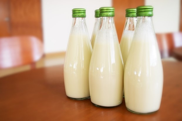 Photo of milk jars