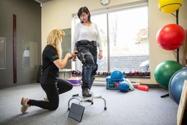 Human augmentation helps a woman walk again