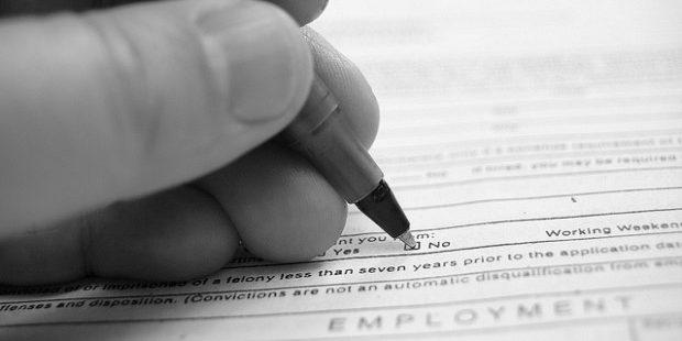 Photo of job application