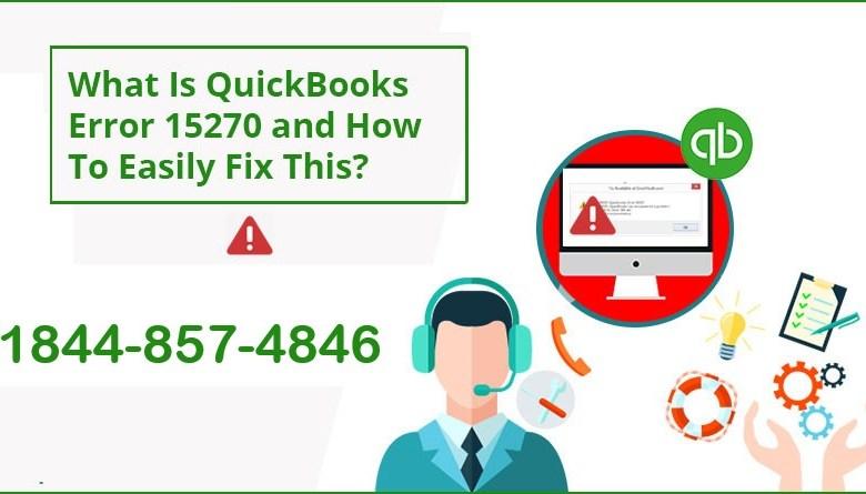 How to Fix QuickBooks Error 15270