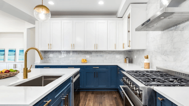 Photo of Navy Blue Kitchen Cabinets A New Kitchen Remodeling Design Idea
