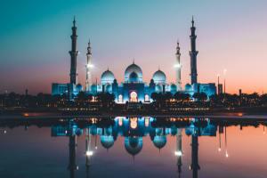 A sunset in Abu Dhabi.