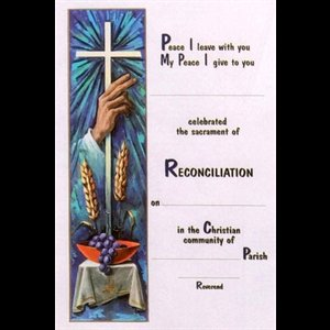 Sacrament Of Reconciliation Certificate 7 X10 5 18x26 7cm