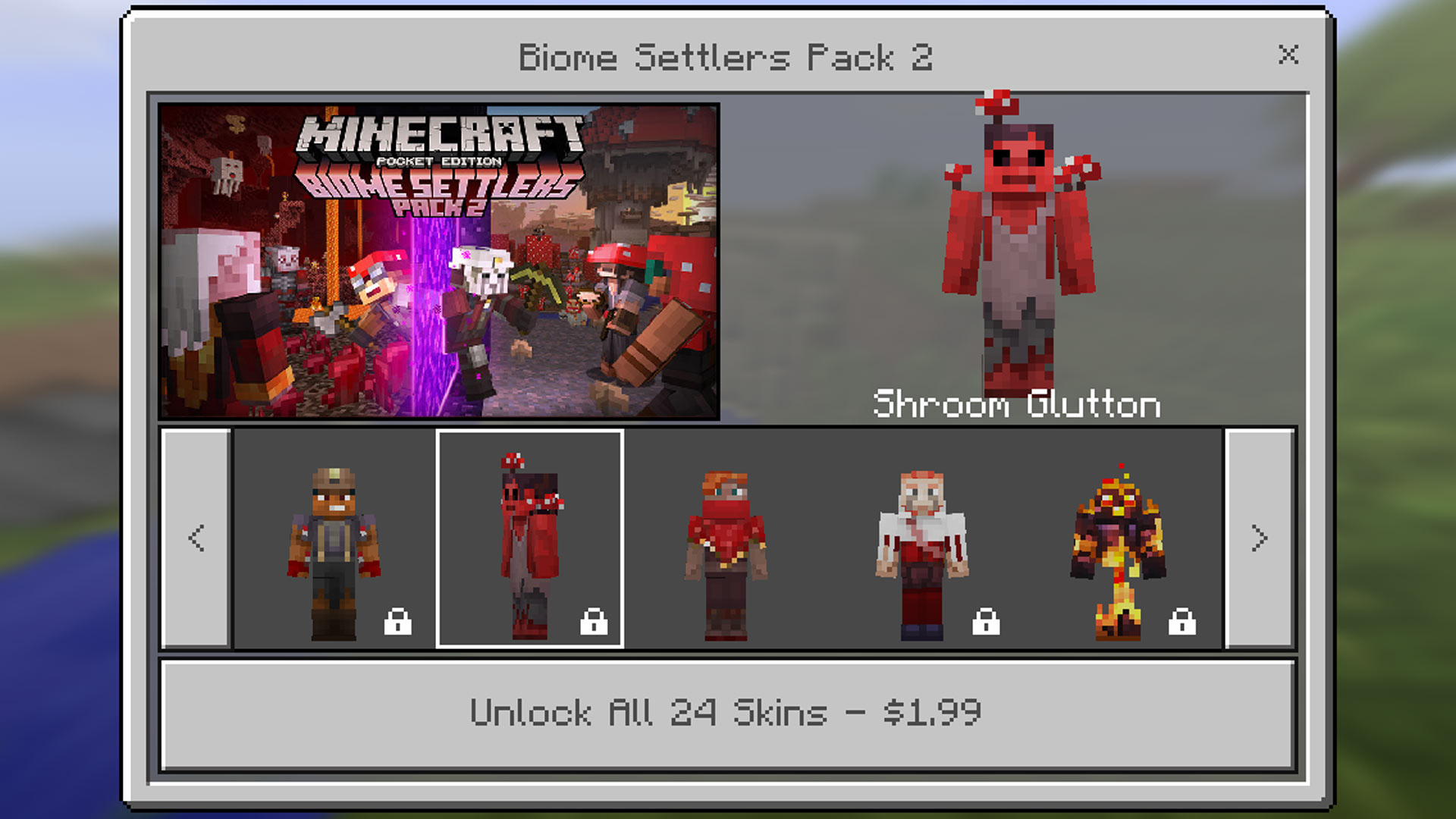Minecraft Pocket Edition Biome Settlers Skin Pack 2 Gamerheadquarters Article