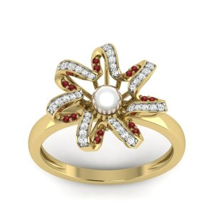 18k Yellow Gold The Trisona Ring