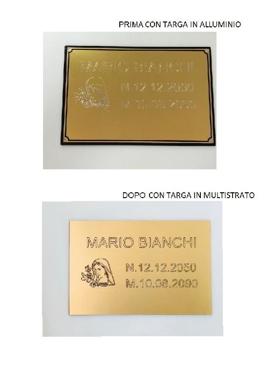TARGA MULTISTRATO PER INCISORE