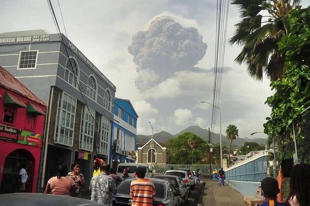 Eruzioni vulcaniche nei Caraibi
