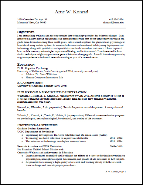 resume personal interests