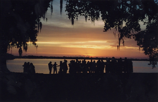 The sunset on Lake Peigneur :: My brothers wedding :: Jefferson Island, LA