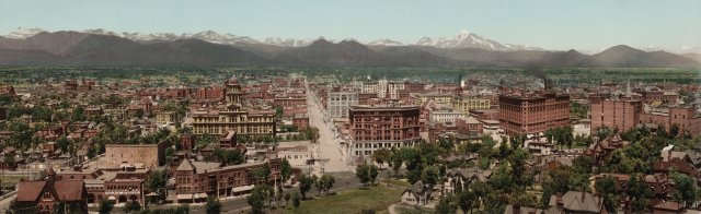 Denver Skyline in 1898