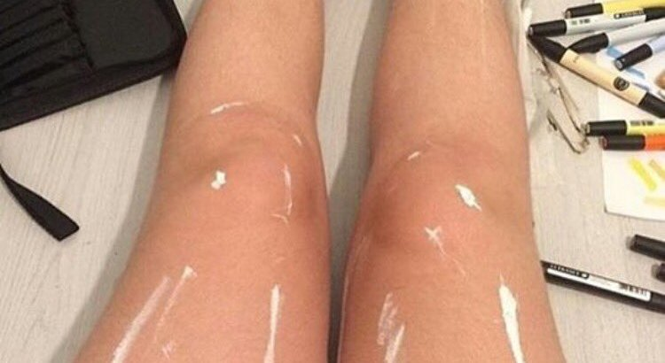 Oily or Painted Legs?