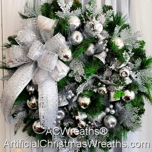 SILVER BELLS CHRISTMAS WREATH ArtificialChristmasWreaths