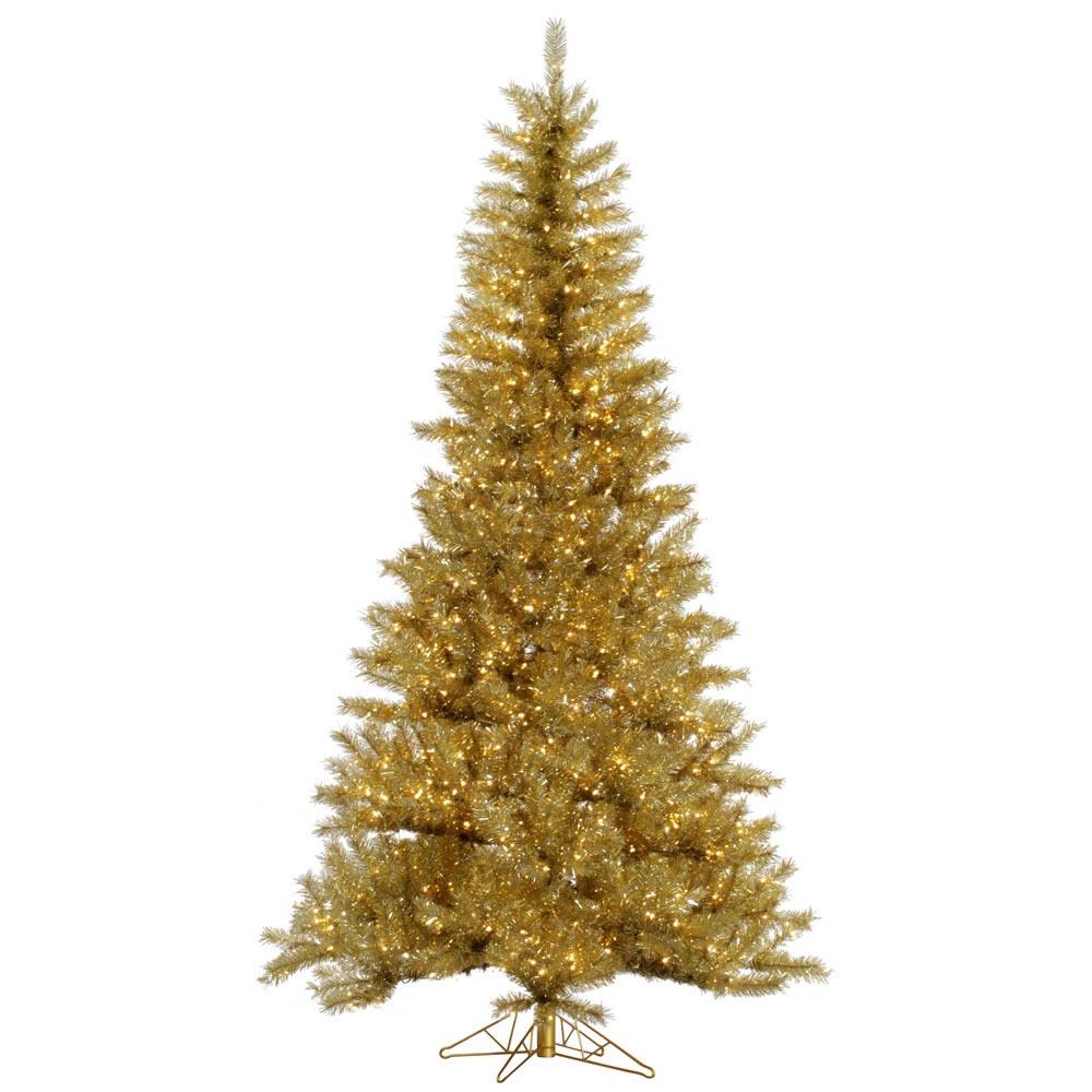 GoldSilver Tinsel Christmas Tree VCK4550