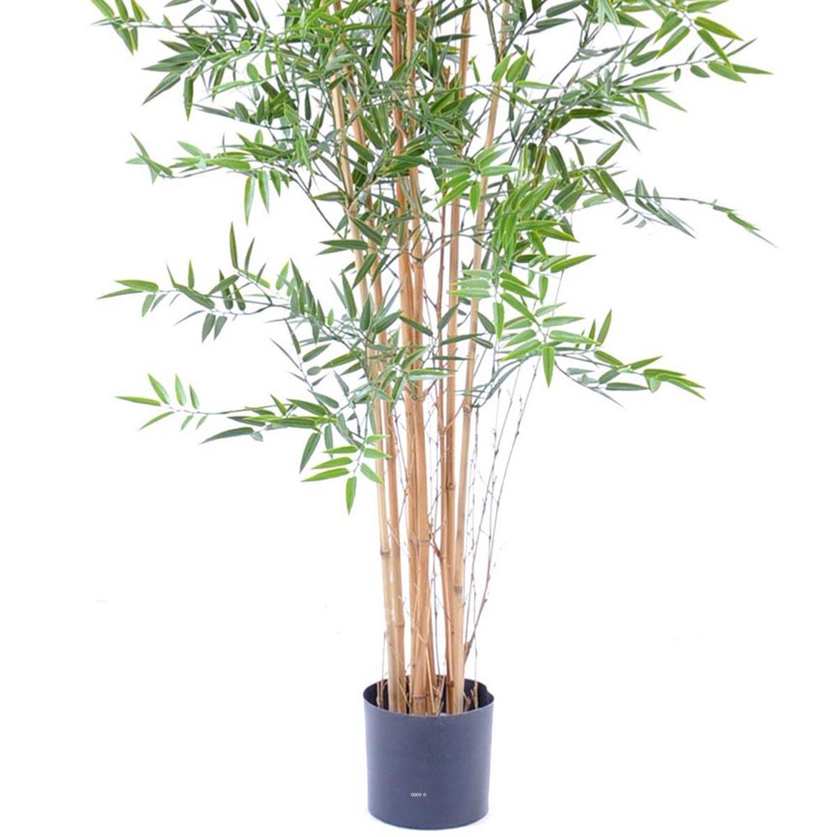 bambou artificiel en pot special uv pour exterieur h 180 cm vert