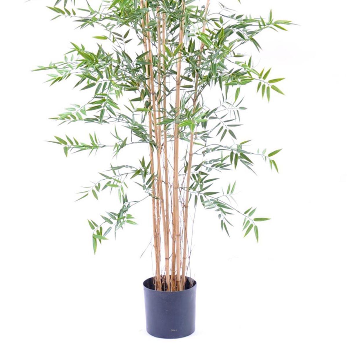 bambou artificiel en pot special uv pour exterieur h 210 cm vert