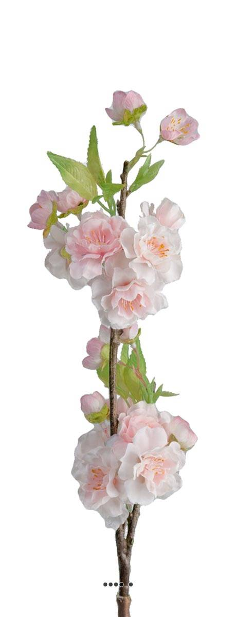 Branche Cerisier Prunus Du Japon Artificiel H 50 Cm 28 Fleurs 2 Ramures Site Artificielles Com
