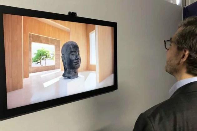 Artify - Participation au salon Laval Virtual en Mayenne avec notre tableau d'art connecté - Visuel d'une sculpture pouvant être observer en 3D