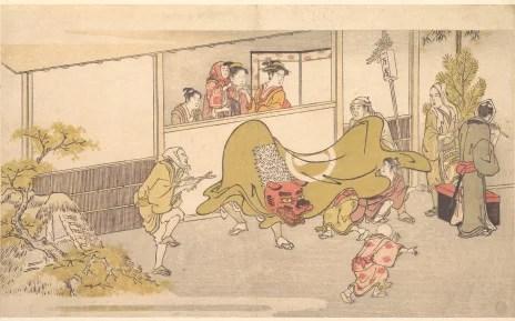 Artify - La danse du Lion de Kitagawa Utamaro