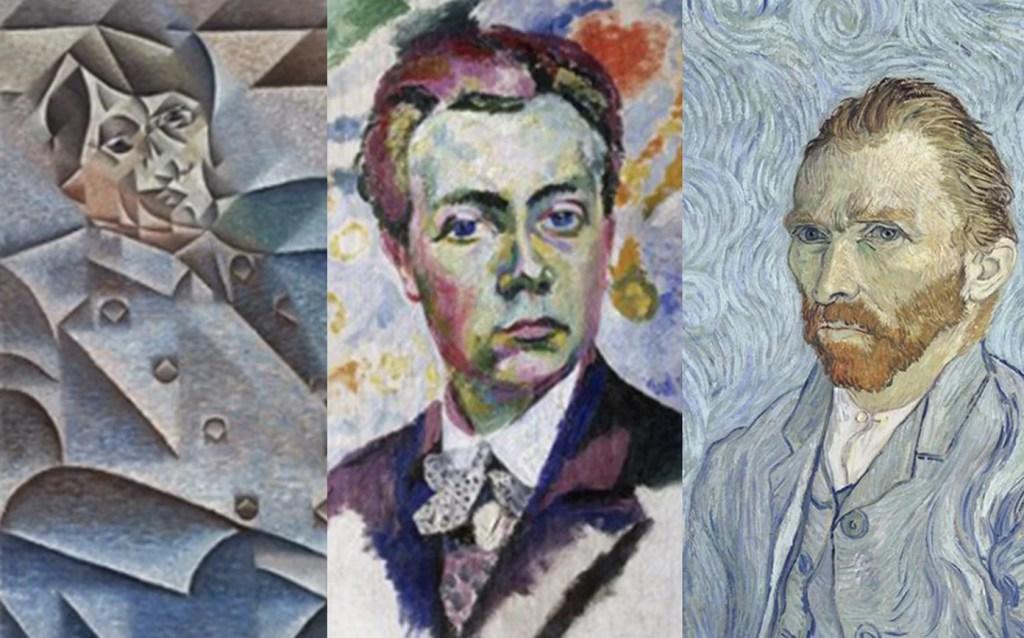 Artify - Oeuvres utilisées pour réaliser l'expérience du photobooth - Intelligence artificielle - Juan Gris - Robert Delaunay - Vincent Van Gogh