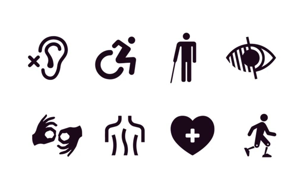 Artify - Pictogrammes représentants les familles de handicap