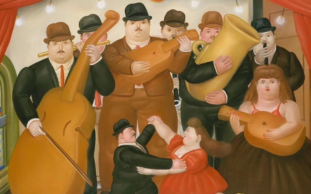 Artify - Oeuvre La Danse en Colombie de Fernando Bottero, présentée lors d'un Arty Handi