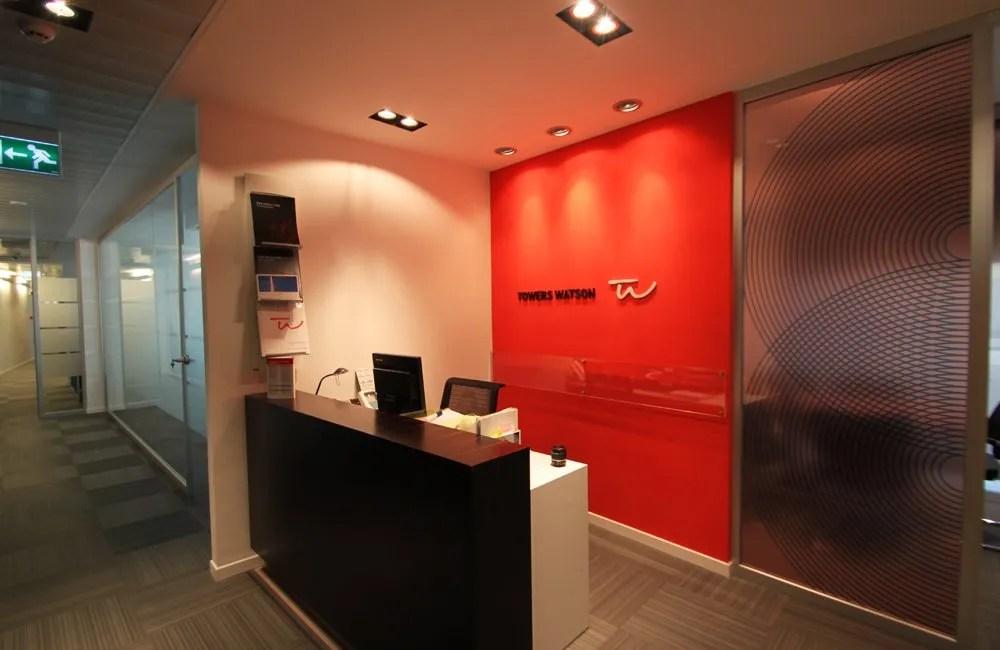 Ristrutturazione Uffici Roma Towers Watson - accoglienza
