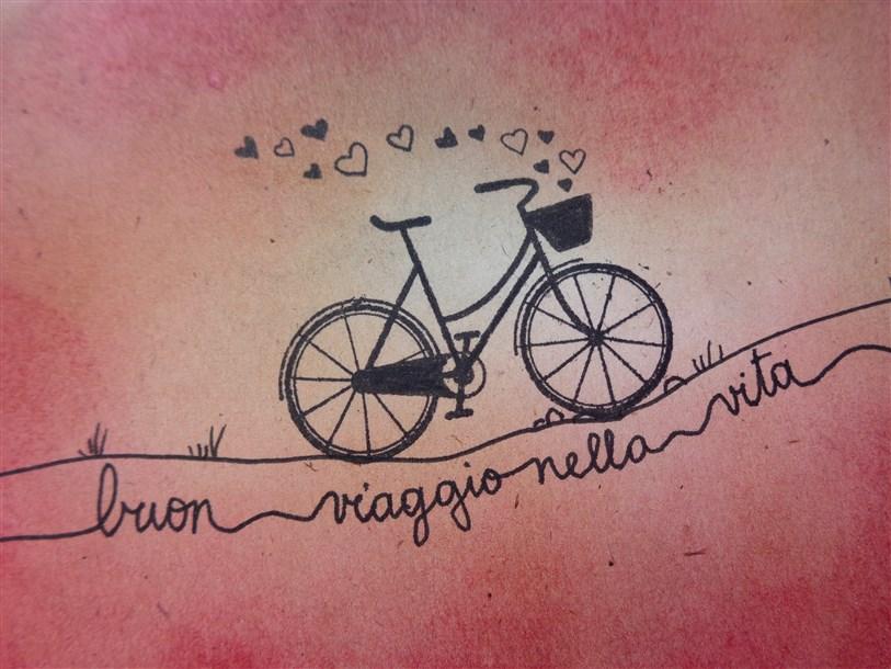 Buon Viaggio Nella Vita Bicicletta Artigianato Di Carta