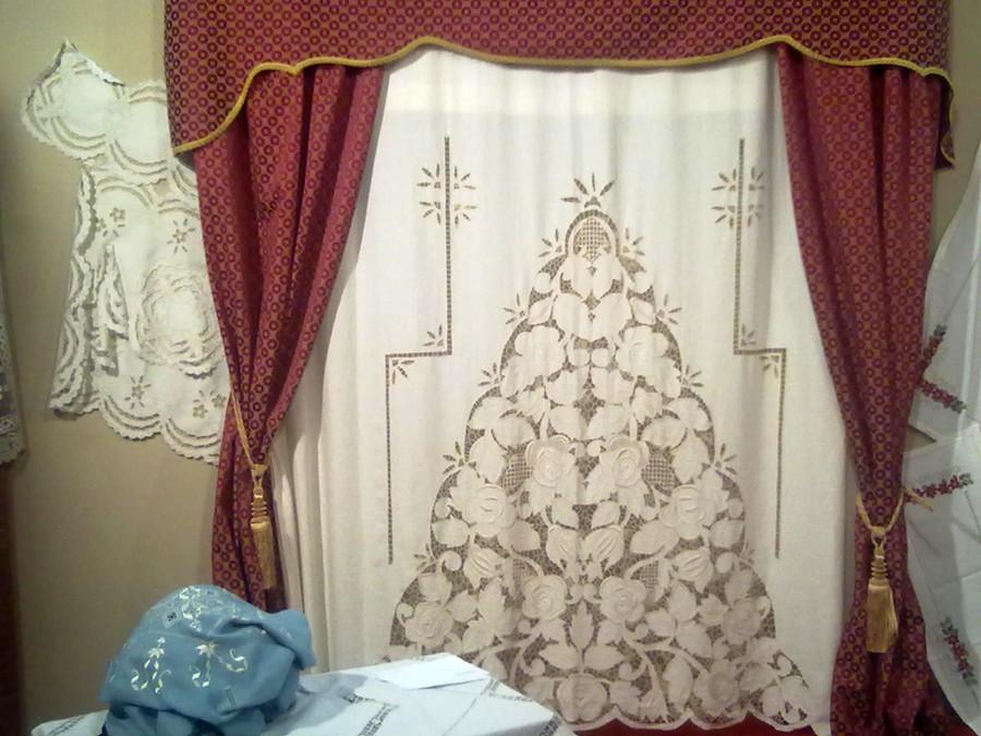Tende Misto Lino Ricamate.Tende A Intaglio Image Of Tenda In Misto Lino Con Ricamo Ad