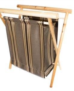Panier à tricot pliant en bois - angle