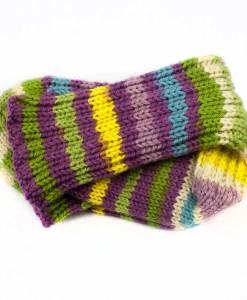 Bas de laine pour enfant - Rayures moelleuses