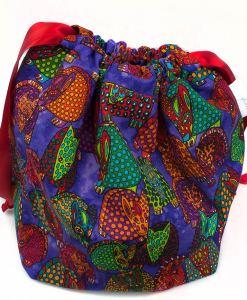 Sac à tricot avec pochette de rangement - Tatous (02)