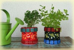 Latinhas decoradas