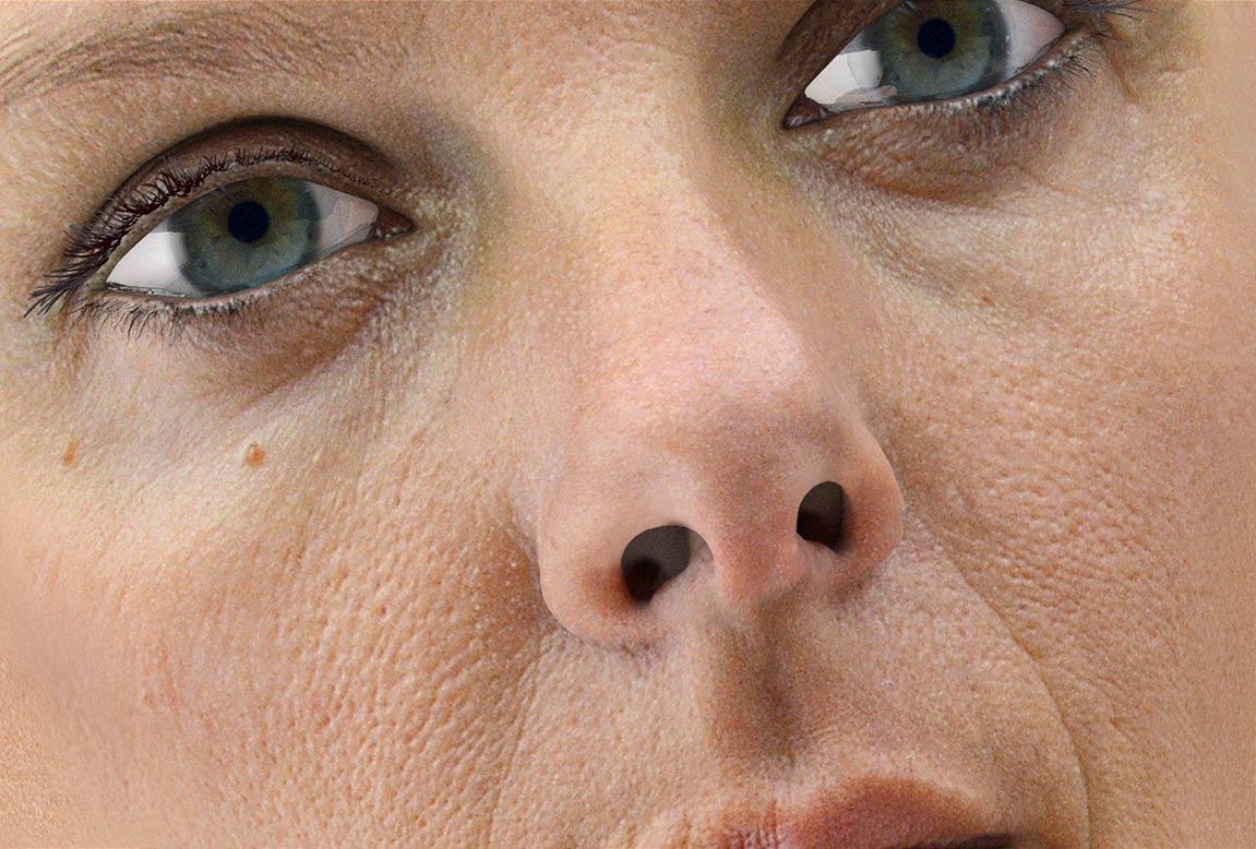 3d-caracter-design/3d izvajano žensko lice