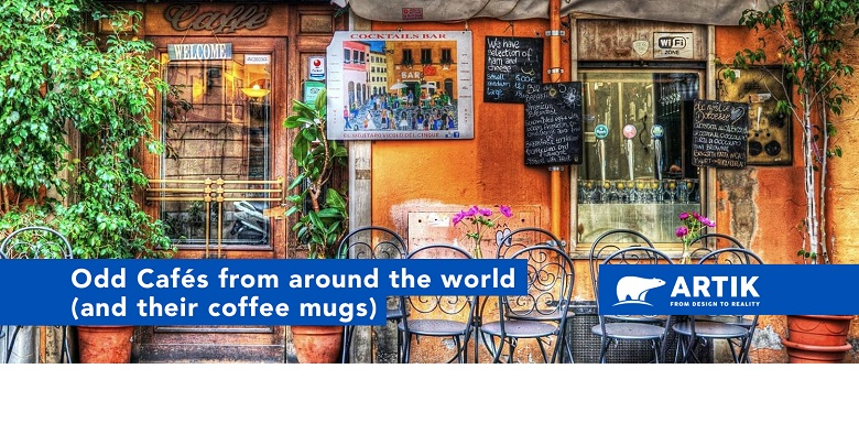 Unique Cafés from Around the World (and their custom printed mugs)