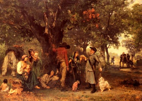 Gypsies in the Forest by Ludwig Knaus