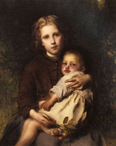 Sisterly Love by Etienne Adolphe Piot