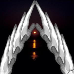 bones, hands, prayer, contemplation,
