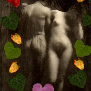 heart, icon, symbol, love, romance, Adam and Eve, breasts, buttocks, mons pubis, silphium seed. ivy leaf, anatomy