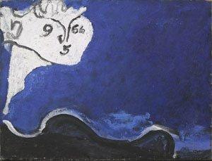 Osvaldo Licini 'Amalassunta su fondo blu'