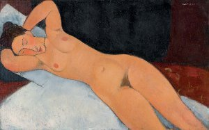 Amedeo Modigliani, Nudo, 1917, olio su tela, cm 73 x 116,7, New York, Solomon R. Guggenheim Museum, Solomon R. Guggenheim Founding Collection, per donazione
