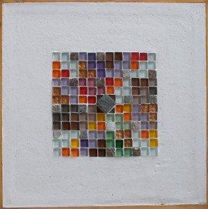 M. Lazzarato, Omphalos, Mosaico, cm,18x18, Collezione Galleria Signorini