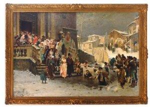 Giacomo Di Chirico, Uno sposalizio (costume di Basilicata), 1877, Collezione privata, Messico