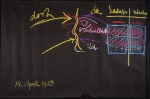 Rudolf Steiner, Disegni alla lavagna, 1923, Gesso su carta nera,102 x 153 x 3,8 cm. Courtesy Rudolf Steiner Archive, Dornach, Switzerland