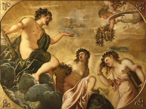 Jacopo Tintoretto, L'origine d'amore, 1562, Collezione Pietro Scarpa, Chiesa di San Fantin, Venezia, Mostra There is a beginning in the end, Museo Pushkin