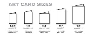art card sizes