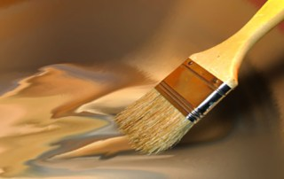 paintbrush and varnish