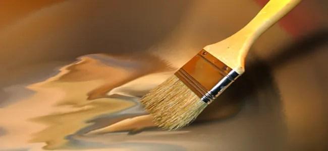 paintbrush and varnish