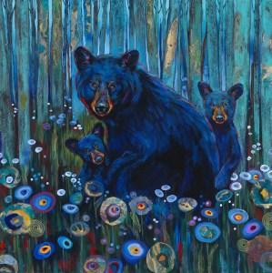 Painting of 3 bears by Kari Lehr